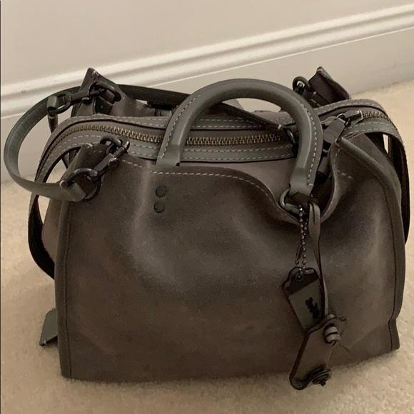 ae33cdccd345 Coach Handbags - Coach Gray Suede Rogue